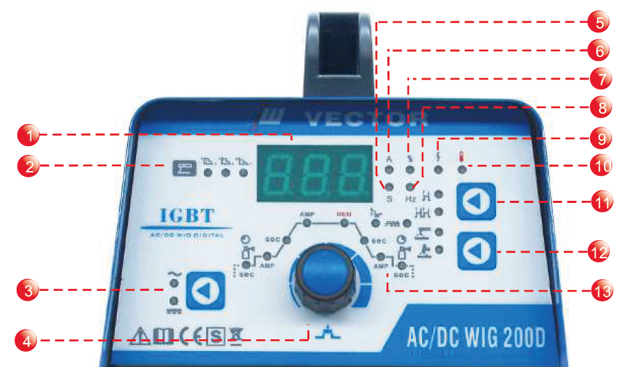 ACDC WIG 200D Welding device System control